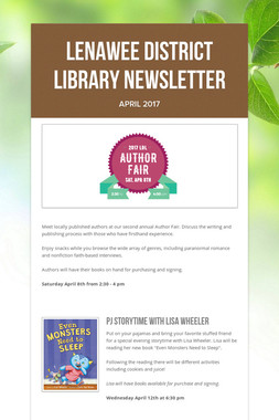 Lenawee District Library Newsletter