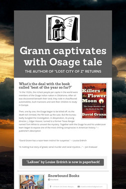 Grann captivates with Osage tale
