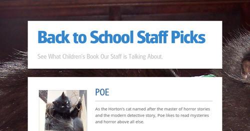Back to School Staff Picks | Ingram Sendr