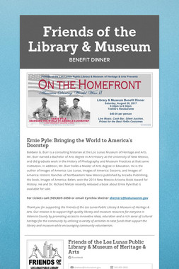 Friends of the Library & Museum