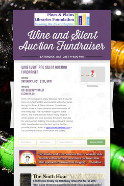 Wine and Silent Auction Fundraiser