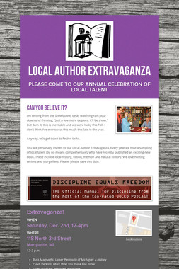 Local Author Extravaganza