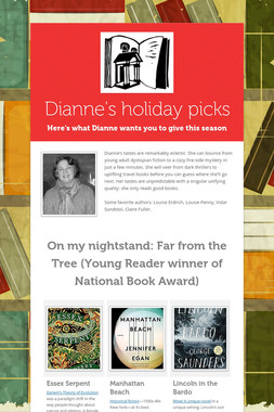 Dianne's holiday picks