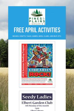 Free April Activities