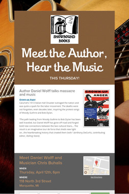 Meet the Author, Hear the Music