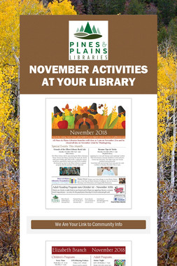 November Activities at Your Library