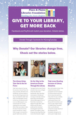 Give to your library, get more back