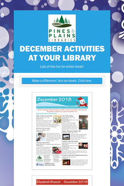 December Activities at Your Library