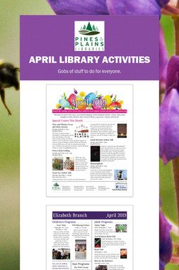 April Library Activities