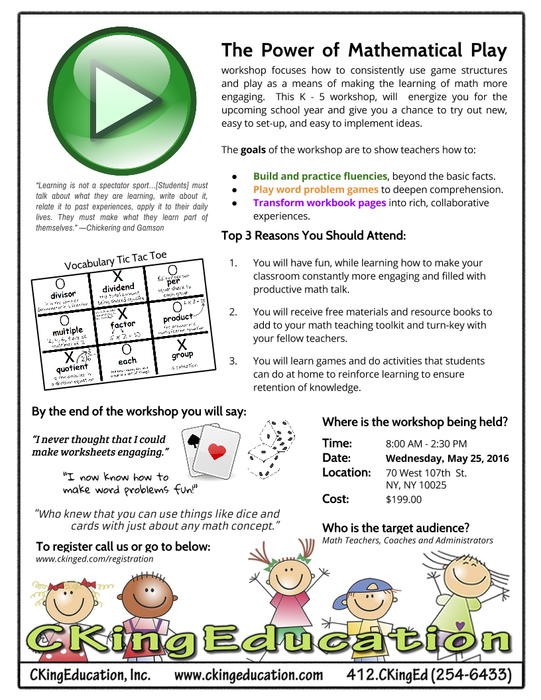 How Should I Say It Workshop For >> May Workshops From Ckingeducation Smore Newsletters