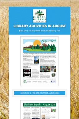 Library Activities in August