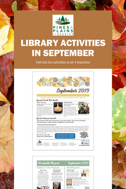 Library Activities in September