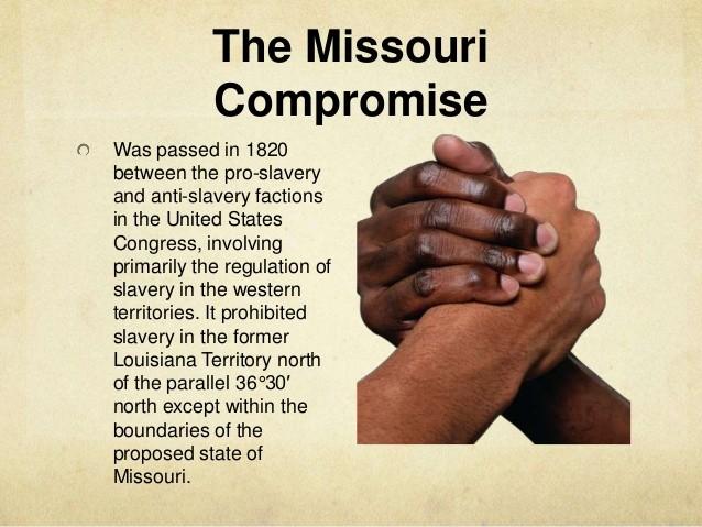 break down of compromise between 1820