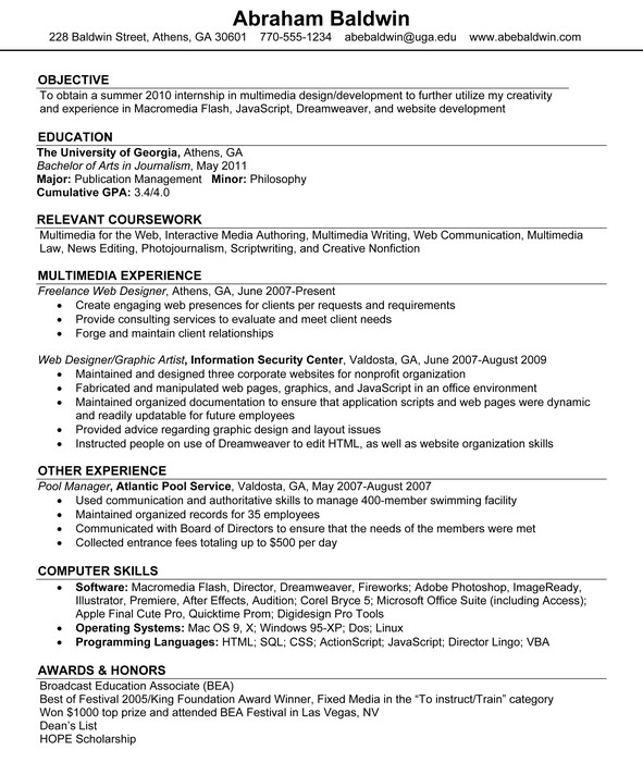 resume job search help