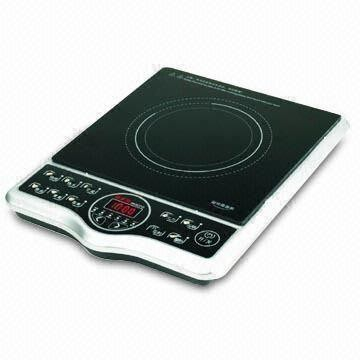 Microcomputer controlled electromagnetic induction cooker.
