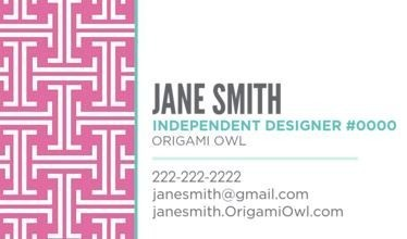 Origami Owl Canada Business Cards