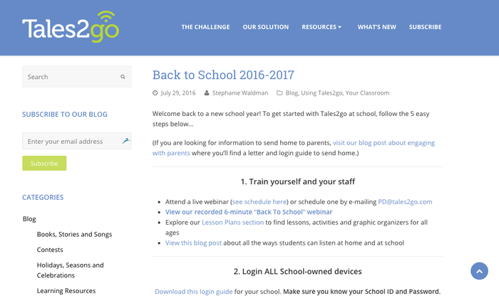 Back2school with Tales2go