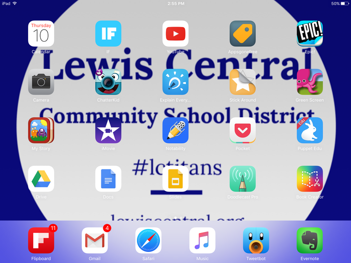 My iPad Home Screen | Smore Newsletters for Education