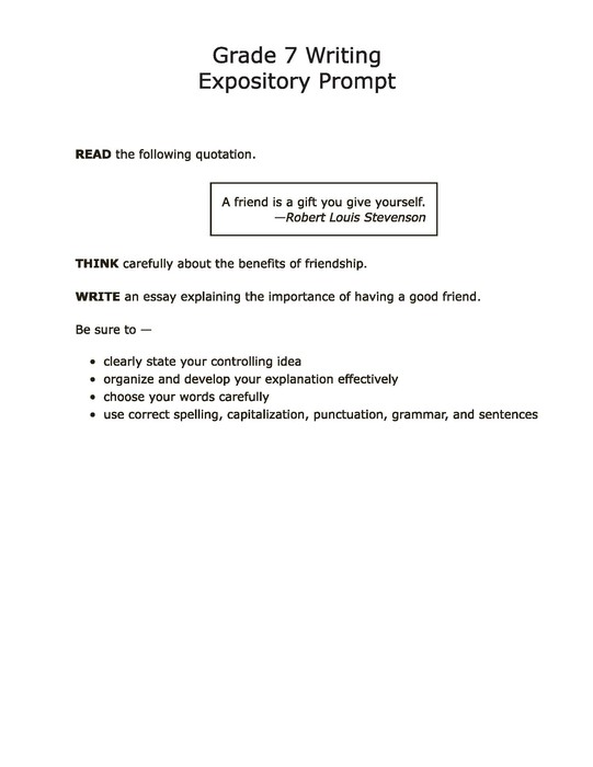 expository essay prompts for 6th grade Grade 6 prompts ws movies big & small (compare & contrast—expository)  compare  write an essay expressing your opinion about this idea be sure to.