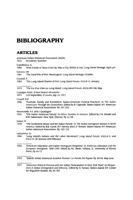 bibliography page for research paper
