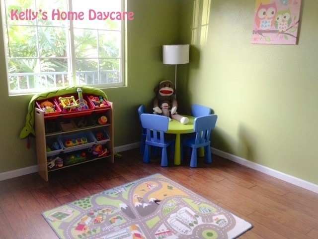 Home daycare setup pictures of spider.