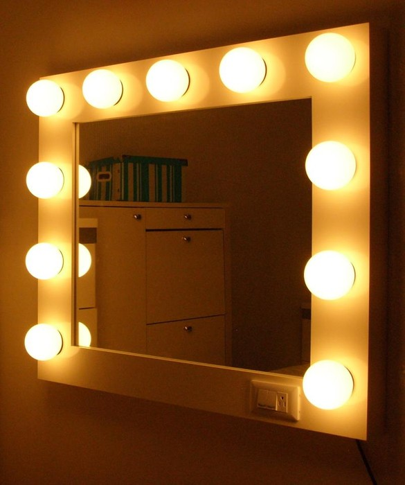 Espejos de maquillaje con luces smore - Luces para espejos ...