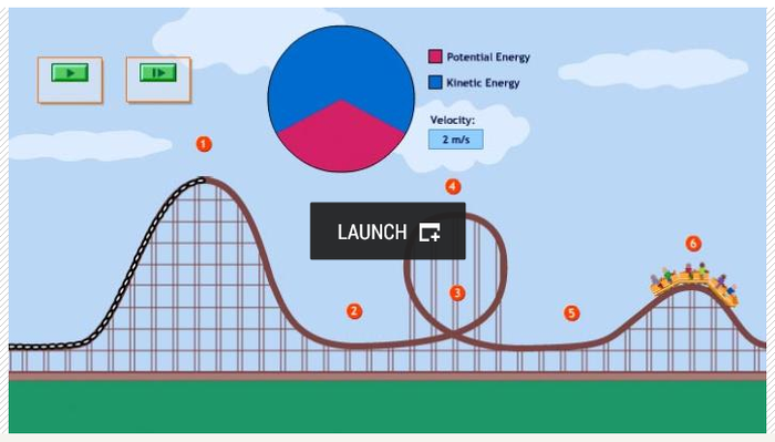 Egt6w Roller Coaster Physics on Potential And Kinetic Energy Worksheet