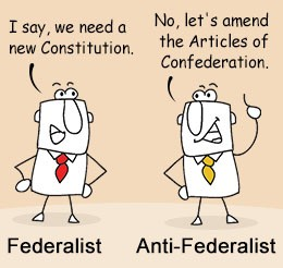 an argument in favor of the constitution as opposed to the articles of confederation When james madison and the other 56 delegates to the constitutional  convention met in  in may 1787, they intended to amend the articles of  confederation.