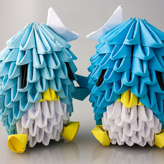 Right Photo 3D Origami Sailor Sam Penguins Now For Only 225 Each You Can Zoom In On The Pictures Too This Money Is Going To Our College Funds So
