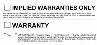 The importance of warranties smore newsletters for education implied warranties thecheapjerseys Choice Image