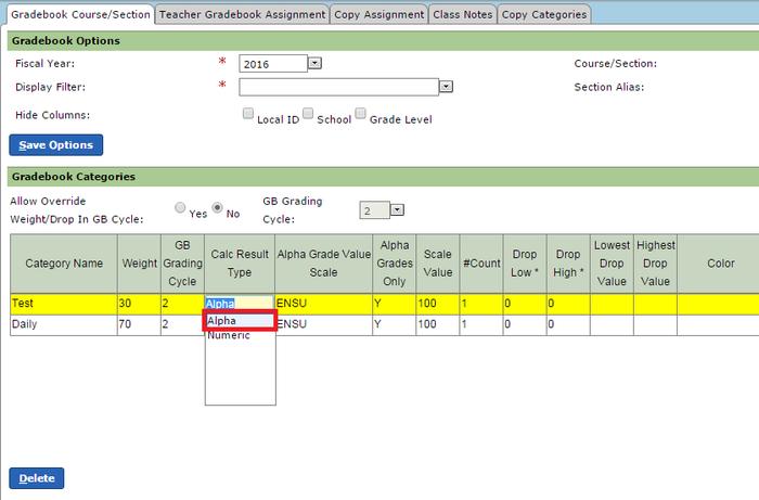 calc result type