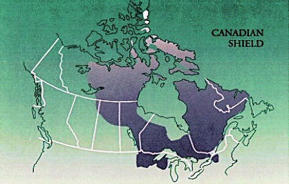 geographic location of the canadian shield