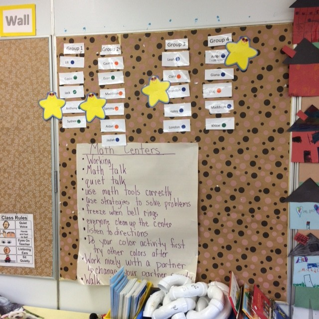 Guided Math Centers in Mrs. Coleman's first grade