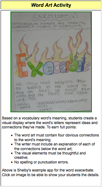 Vocabulary Collectors | Smore Newsletters for Education
