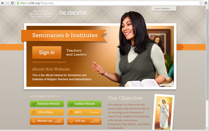 SEMINARIES & INSTITUTES | Smore Newsletters for Education