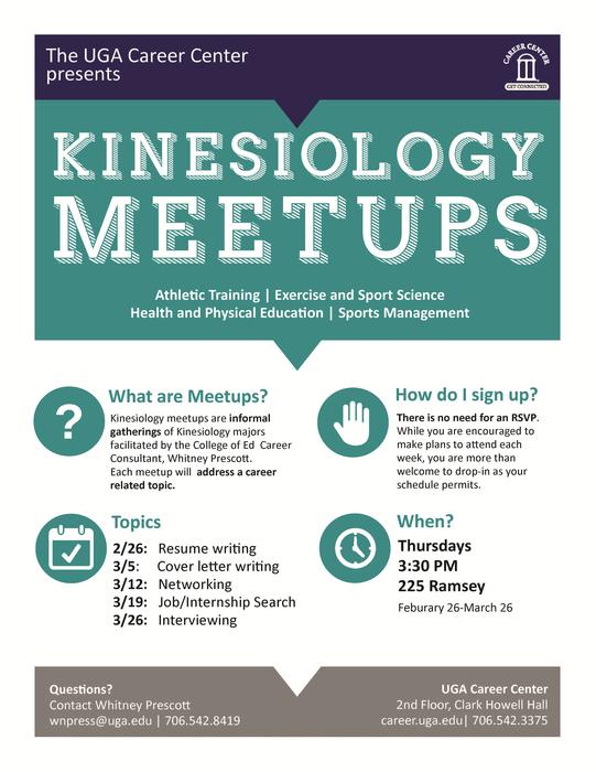 Kinesiology Meet Ups  Uga Career Center Resume