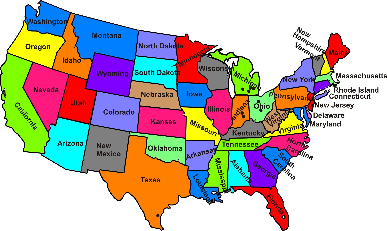 Amazing American States ITV Event - Free customizable us map