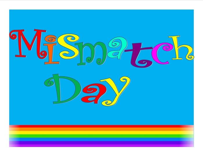 Mismatch day clip art