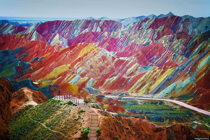 Climbing Rainbow Mountains in China