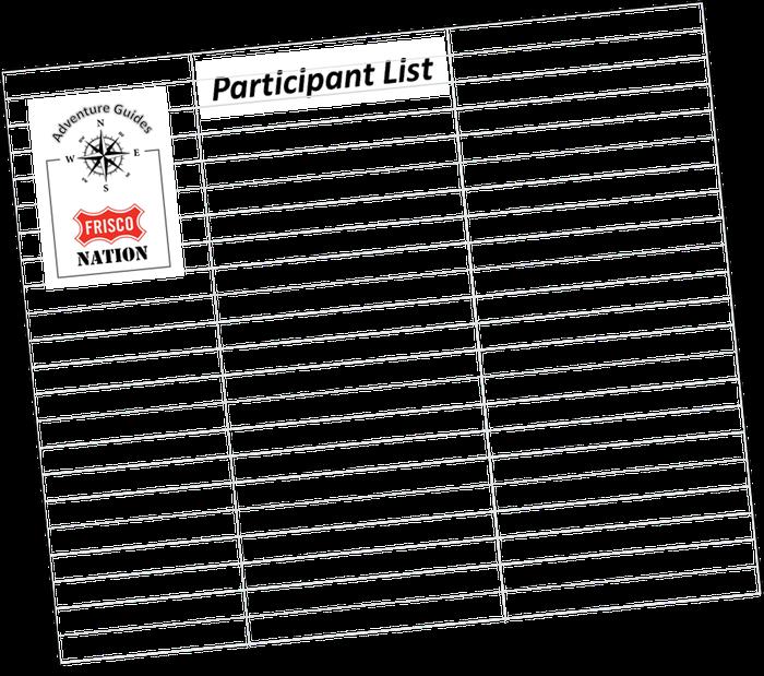 Final Camp Classen Circle Participant List