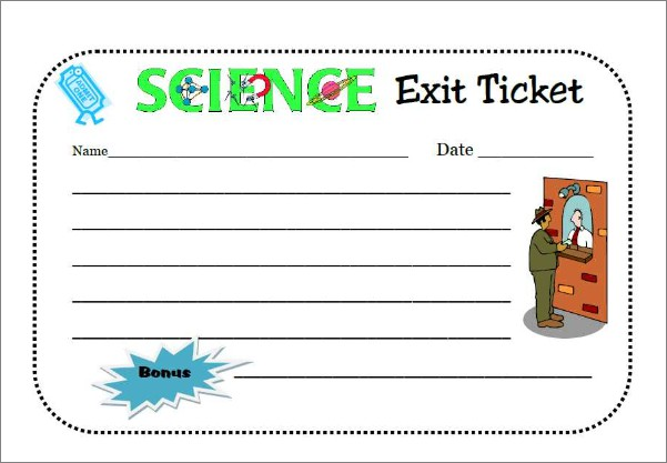 Exit Ticket  Smore Newsletters For Education