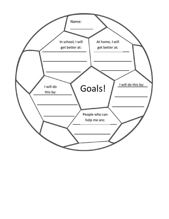 Bcms counselors corner smore newsletters setting goals can be fun a sheet for your student who loves sports ibookread Read Online