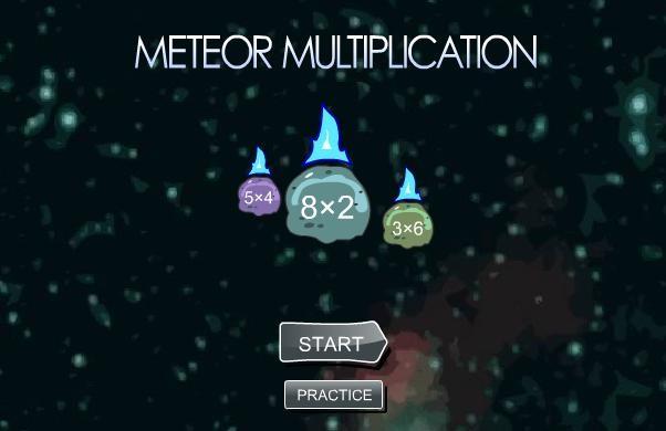 "Игра за умножение - ""Метеори"""