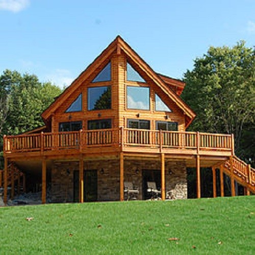Log home plans smore for Prow front house plans