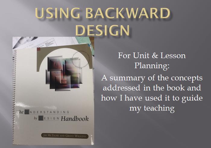 using backwards design | smore, Presentation templates