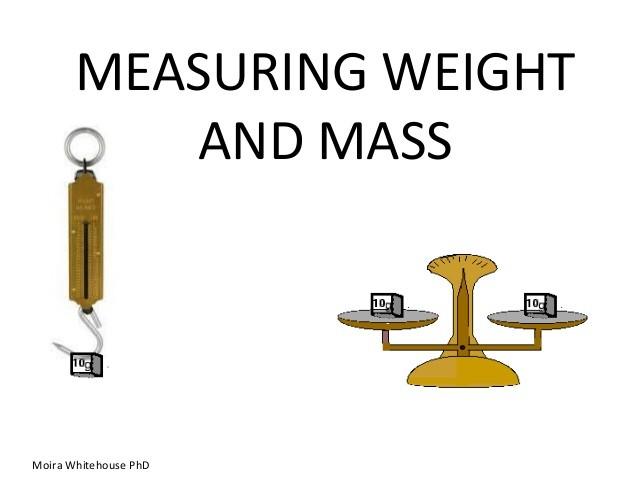 MassWeight – Mass Vs Weight Worksheet