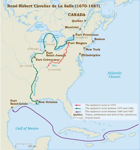 USI A The Explorers Smore - Map of us explorers coronado la salle