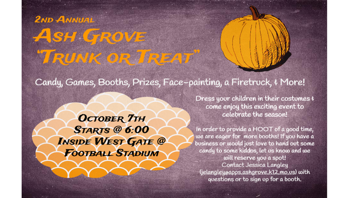 Ash Grove Trunk Or Treat Smore Newsletters For Education