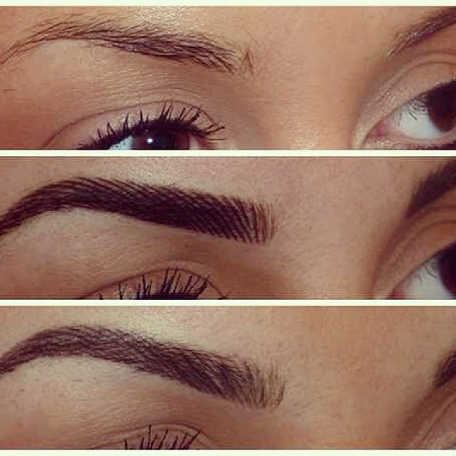how to draw eyebrows for microblading