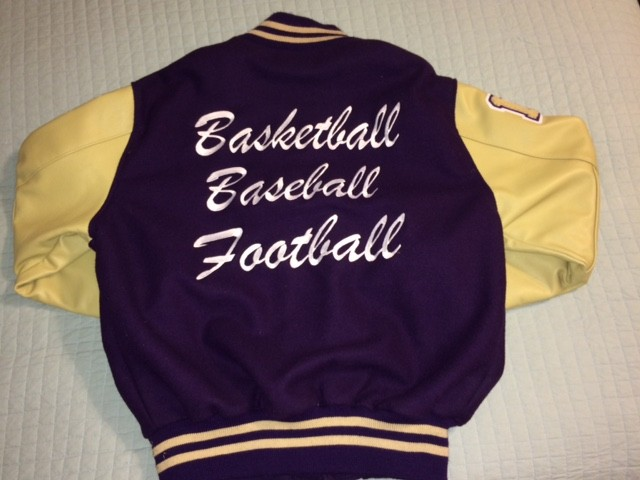 letter jacket back some students choose a chenille patch of their name instead of sports they design their own jacket